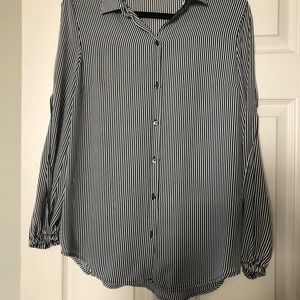 Women's black and white blouse